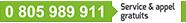 0 805 989 911 | Service & appel gratuits